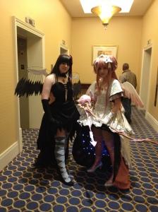PMMM: Rebellion. Look at the underside of Godoka's skirt!